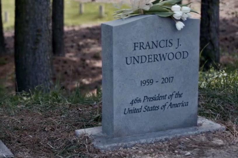 Grób Francisa Underwooda /materiały prasowe