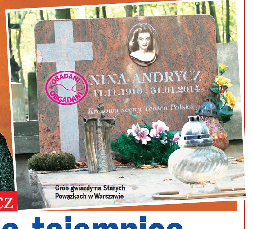 Grób Niny Andrycz /Życie na gorąco