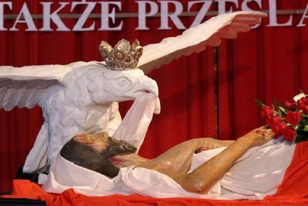 Grób Pański w kościele św. Brygidy w Gdańsku w 2004, fot. M.Jakubowski /Reporter