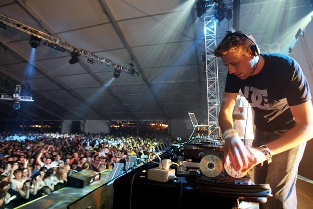 Groove Armada podczas festiwalu Coachella w Kalifornii - fot. Kristian Dowling /Getty Images/Flash Press Media