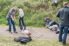 Groźny wypadek w Poznaniu. Auto wjechało w tłum ludzi