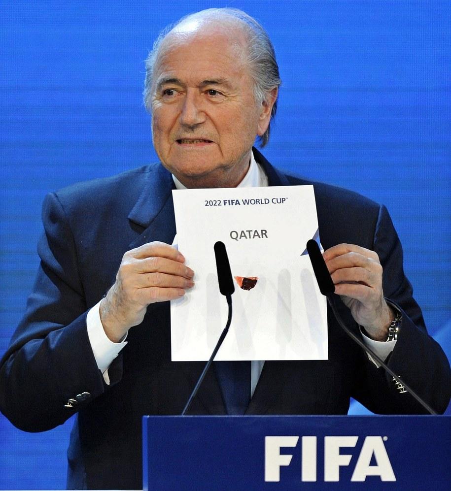 Grudzień 2010. Prezydent FIFA Sepp Blatter ogłasza, że Katar będzie gospodarzem MŚ 2022 /WALTER BIERI  /PAP/EPA