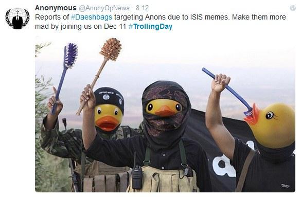 Grupa Anonymous znów uderza w Państwo Islamskie /Twitter