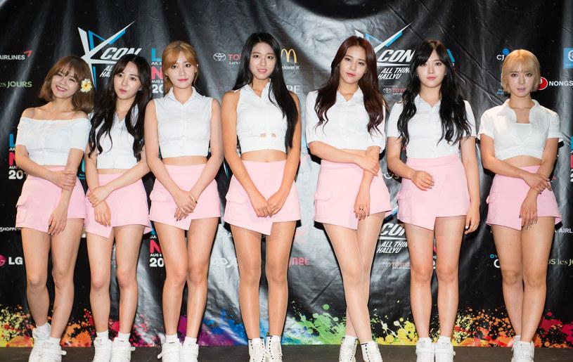 Grupa AOA. Kwon Mina druga od lewej obok Shin Jimin /Noam Galai /Getty Images