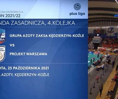 Grupa Azoty ZAKSA Kędzierzyn-Koźle - Projekt Warszawa 3:2. Skrót. WIDEO (Polsat Sport)