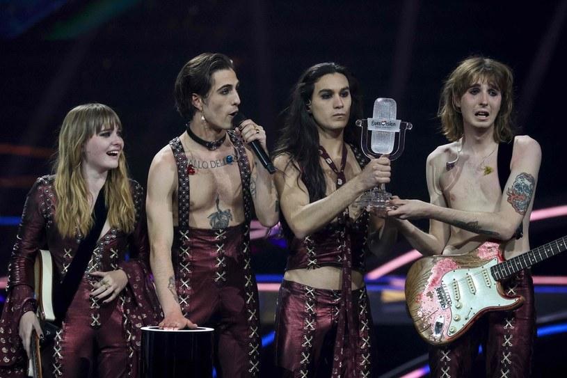 Grupa Maneskin wygrała Eurowizję 2021 /KENZO TRIBOUILLARD /AFP