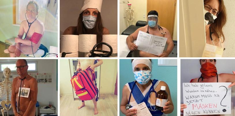 """Grupa niemieckich lekarzy w ramach oddolnej akcji """"Blanke Bedenken"""" (z niem. """"nagie obawy"""") opublikowała w internecie swoje nagie zdjęcia. Zdjęcie pochodzi ze strony blankebedenken.org. /"""