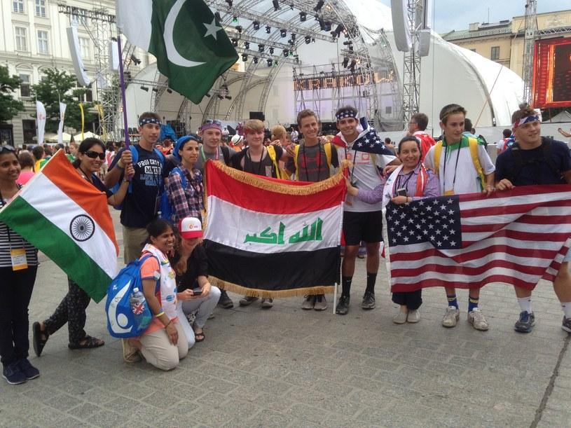 Grupa pielgrzymów z Indii, Pakistanu, Iraku i USA /Justyna Tomaszewska /INTERIA.PL