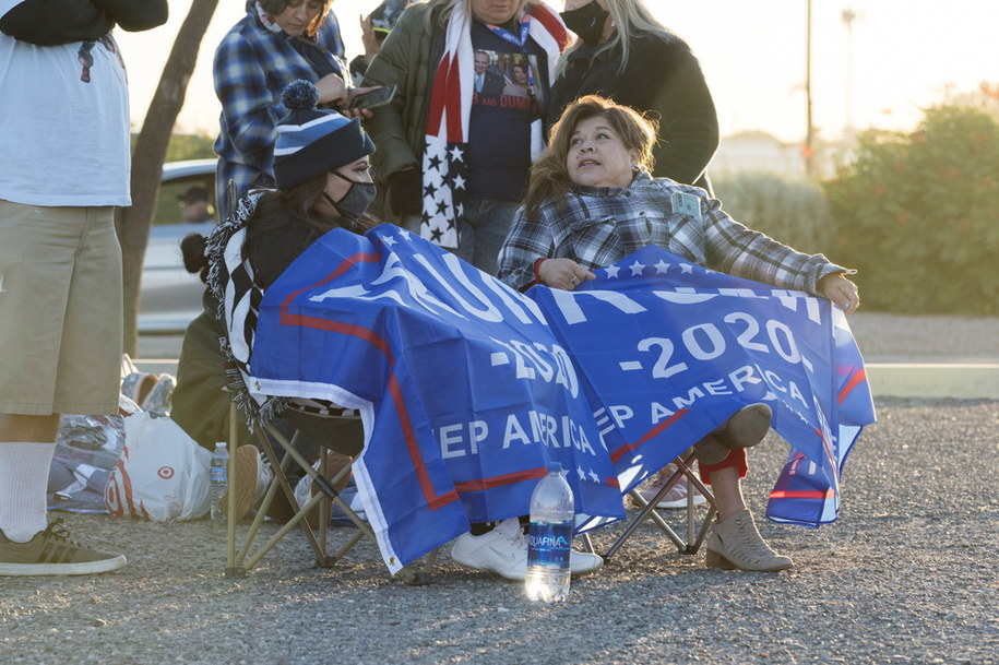 Grupa zwolenników Donalda Trumpa /RICK D'ELIA /PAP/EPA