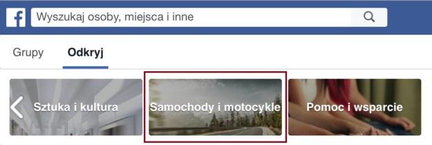 grupy na facebooku /Motor