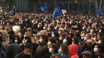 Gruzja: Były prezydent Saakaszwili aresztowany. Dziesiątki tysięcy demonstrantów na ulicach