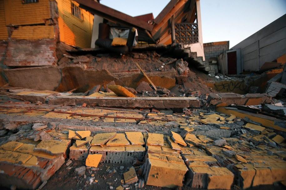 Gruzowisko w Iquique po trzęsieniu ziemi z 1 kwietnia /Felipe Trueba /PAP/EPA
