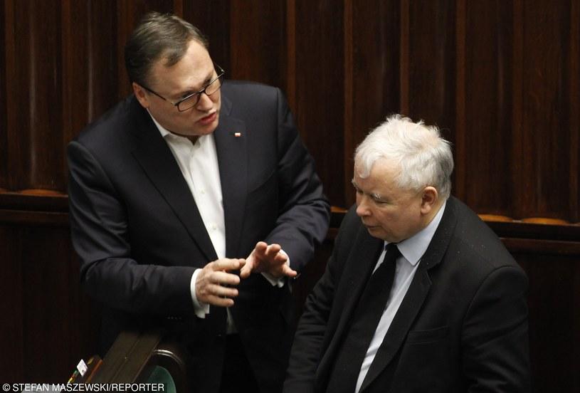 Grzegorz Bierecki i Jarosław Kaczyński /STEFAN MASZEWSKI/REPORTER /East News