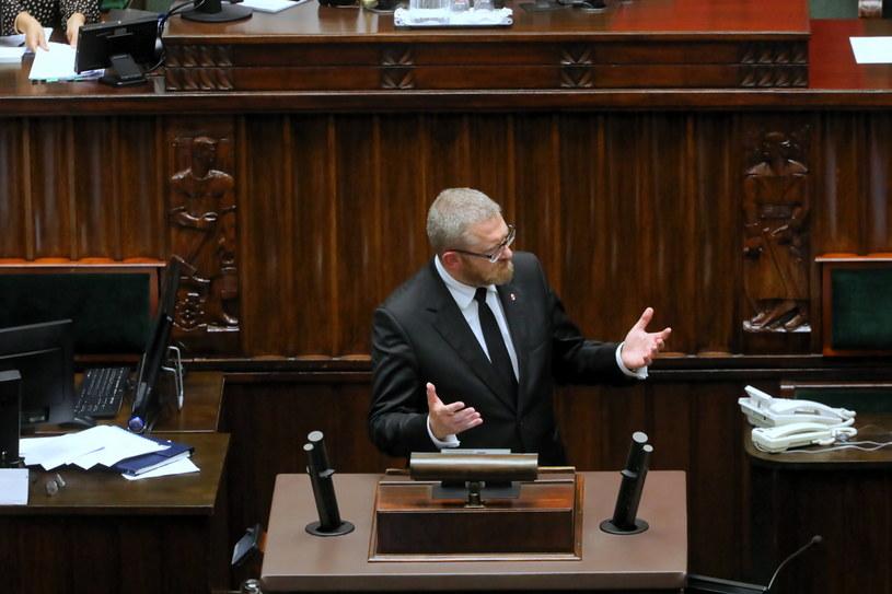 Grzegorz Braun w Sejmie /PAP/Albert Zawada /PAP