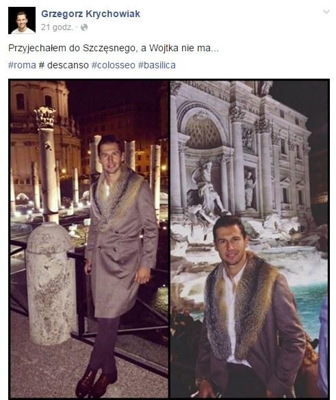 Grzegorz Krychowiak odpoczywa w Rzymie /INTERIA.PL