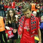 Grzegorz Krychowiak po zwycięstwie pozował z partnerką