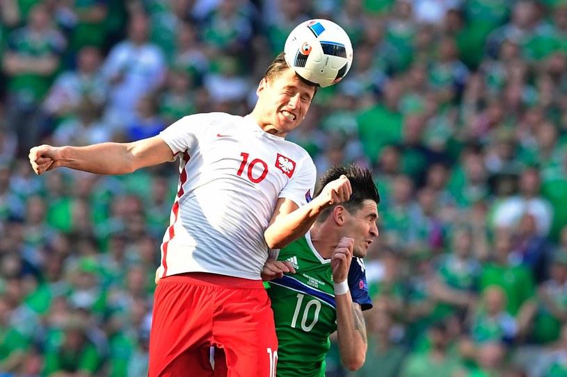 Grzegorz Krychowiak podczas meczu z Irlandią Północną /AFP