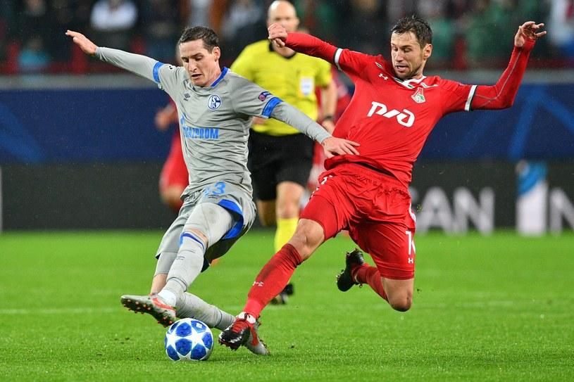 Grzegorz Krychowiak w meczu z Schalke w Lidze Mistrzów /AFP