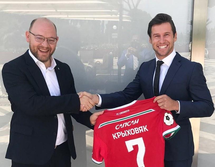 Grzegorz Krychowiak w nowych barwach/FC Lokomotiv Moskwa /
