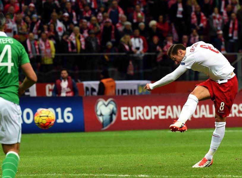Grzegorz Krychowiak w ten sposób strzelił gola reprezentacji Irlandii /AFP