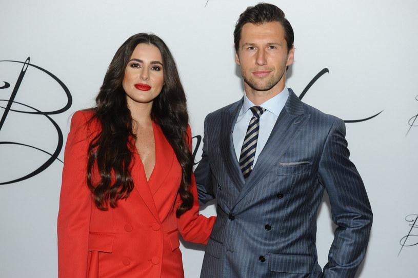 Grzegorz Krychowiak z żoną Celia Jaunat /VIPHOTO /East News