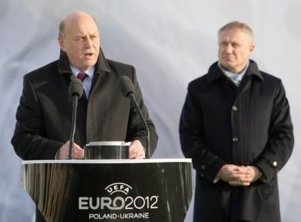 Grzegorz Lato i Hrihorij Surkis /AFP