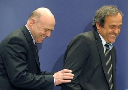 Grzegorz Lato i Michel Platini /AFP