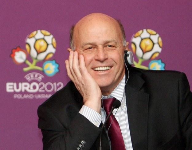 Grzegorz Lato jest w dobrym nastroju przed Euro 2012. /AFP