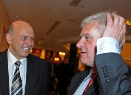 Grzegorz Lato (z lewej) i Michał Listkiewicz /AFP