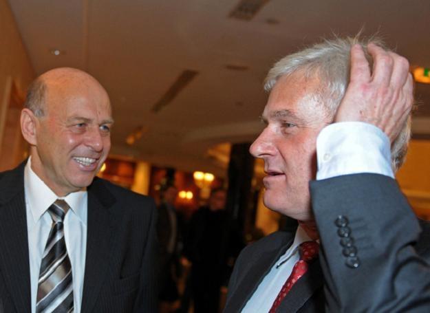 Grzegorz Lato (z lewej) i Michał Listkiewicz. /AFP