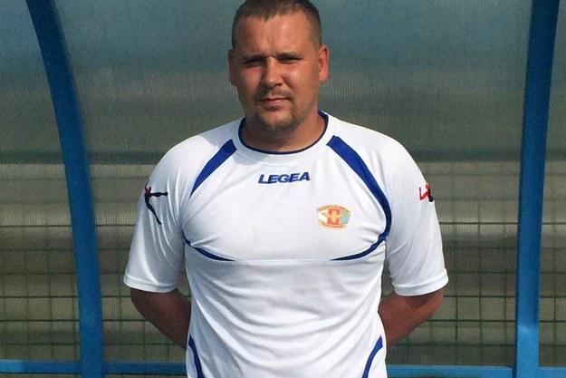 Grzegorz Majewski, trener Czarnych Sosnowiec. /Wojciech Marczyk /RMF FM