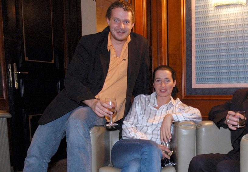 Grzegorz Małecki i Kinga Ilgner, 2004 rok /Warda /AKPA