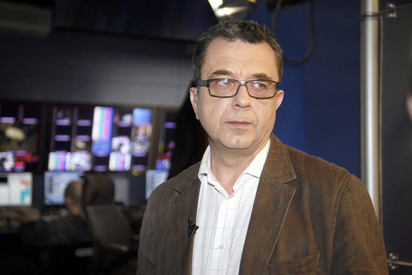 Grzegorz Miecugow w studiu TVN /AKPA