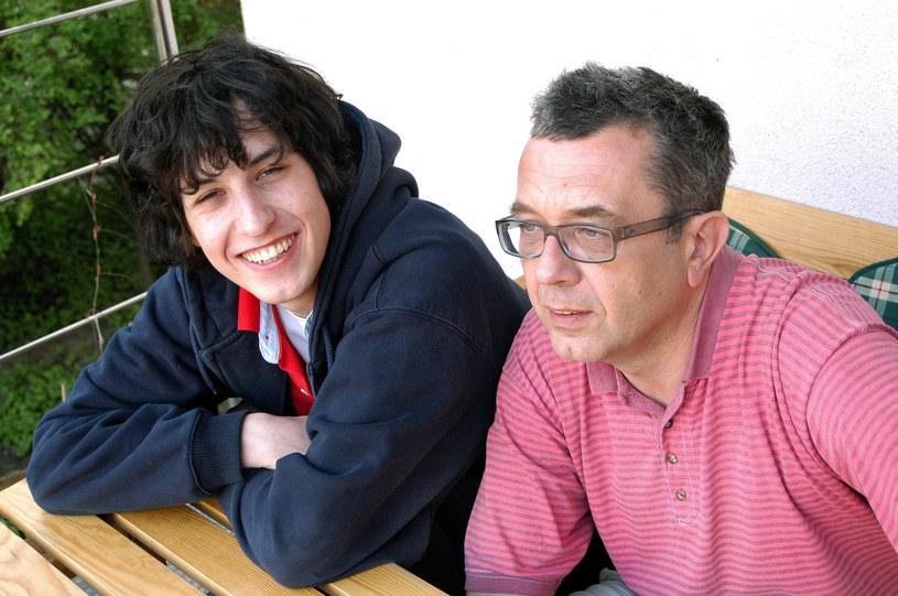 Grzegorz Miecugow z synem Krzysztofem /Marek Szymański /Reporter