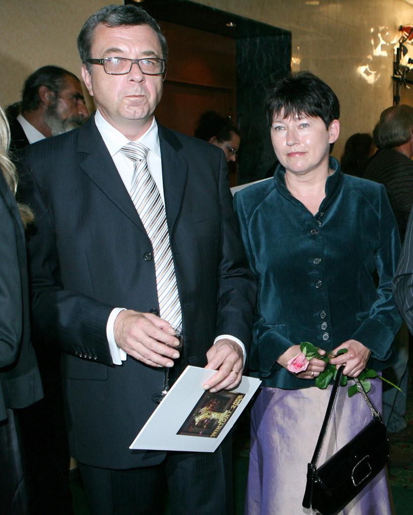 Grzegorz Miecugow z żoną Joanną /Rafał Maciąga /Agencja FORUM