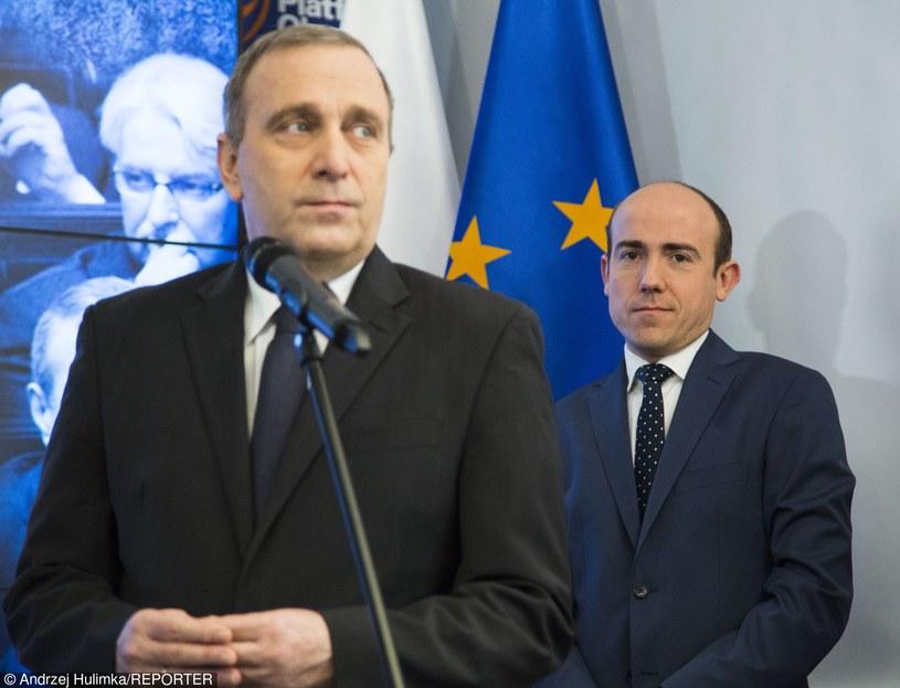Grzegorz Schetyna i Borys Budka /Andrzej Hulimka  /Reporter