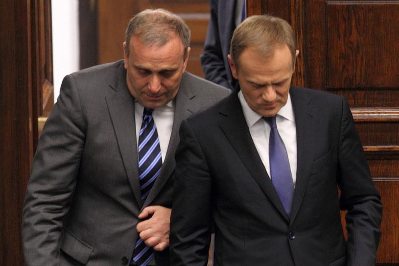 Grzegorz Schetyna i Donald Tusk; zdj. ilustracyjne /Stanisław Kowalczuk /East News