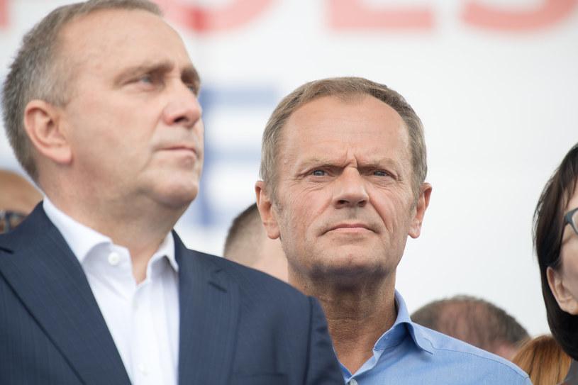 Grzegorz Schetyna i Donald Tusk /Wojciech Strozyk/ /Reporter