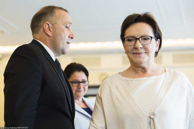 Grzegorz Schetyna i Ewa Kopacz /Andrzej Hulimka  /Reporter
