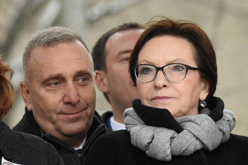 Grzegorz Schetyna i Ewa Kopacz /Radek Pietruszka /PAP