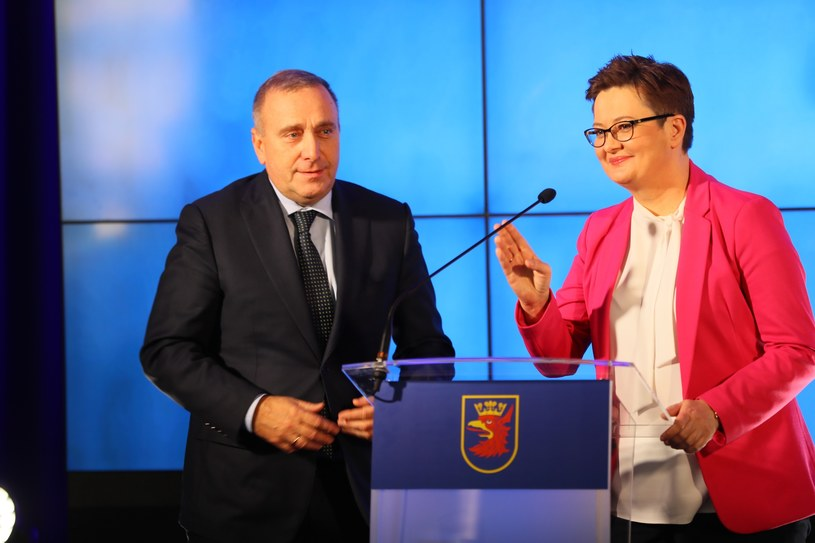 Grzegorz Schetyna i Katarzyna Lubnauer /Robert Stachnik /Reporter