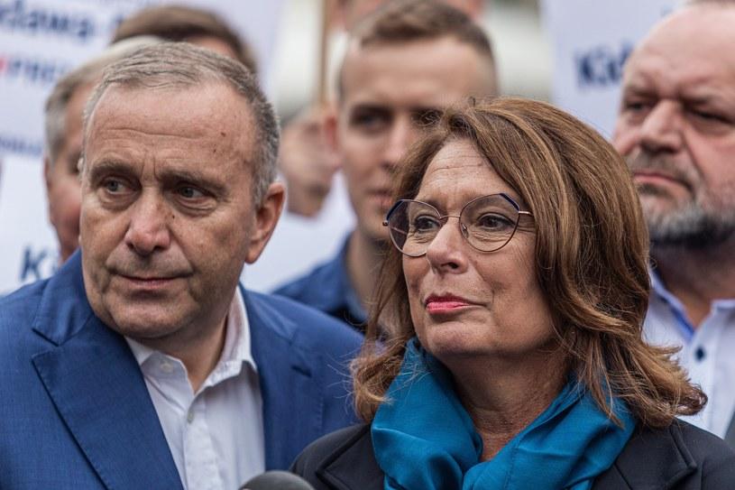 Grzegorz Schetyna i Małgorzata Kidawa-Błońska /Krzysztof Kaniewski /Reporter