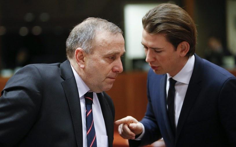 Grzegorz Schetyna i minister spraw zagranicznych Austrii Sebastian Kurz /PAP/EPA