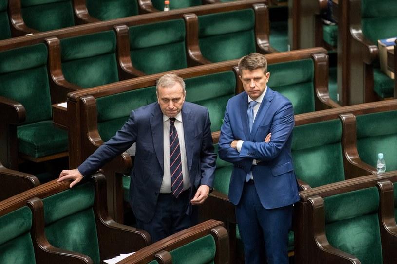 Grzegorz Schetyna i Ryszard Petru /Andrzej Iwańczuk /Reporter