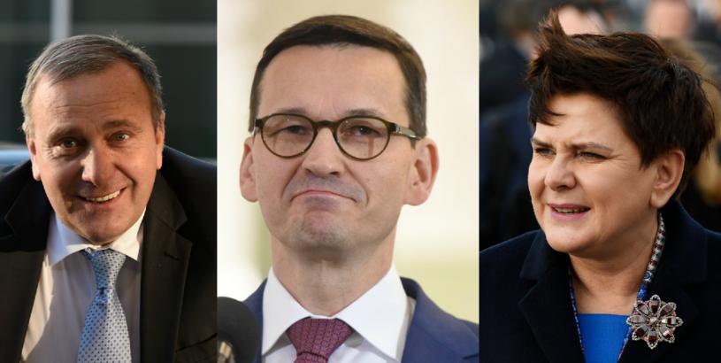 Grzegorz Schetyna, Mateusz Morawiecki, Beata Szydło /AFP/Reporter /