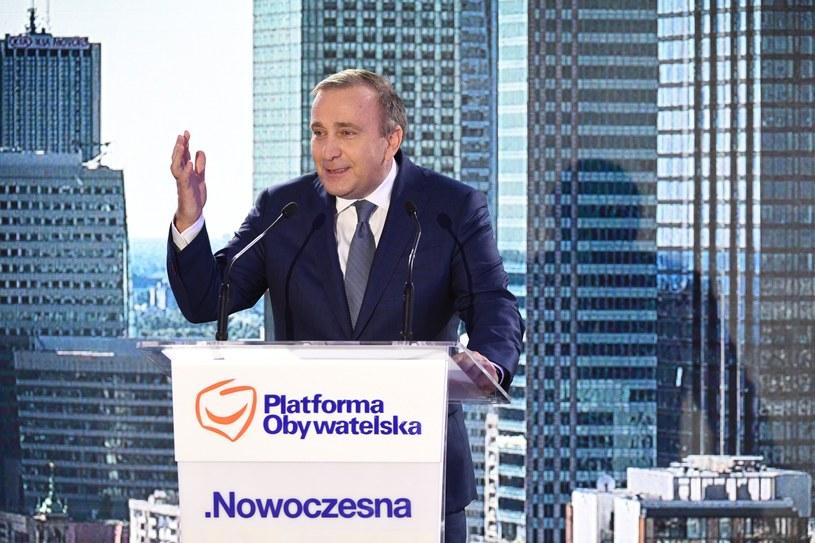 Grzegorz Schetyna na konwencji PO i Nowoczesnej /Jacek Turczyk /PAP