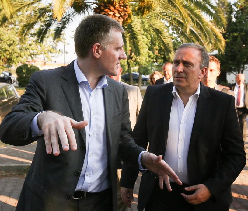 Grzegorz Schetyna oraz wicepremier, minister spraw zagranicznych Czarnogóry Igor Luksic /Paweł Supernak /PAP