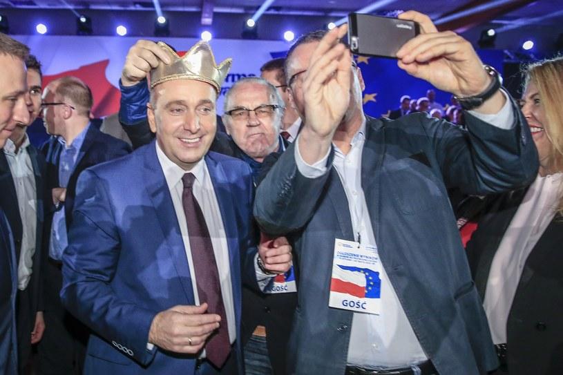 Grzegorz Schetyna po ogłoszeniu wyniku wyborów na przewodniczącego Platformy Obywatelskiej /Andrzej Iwańczuk /Reporter