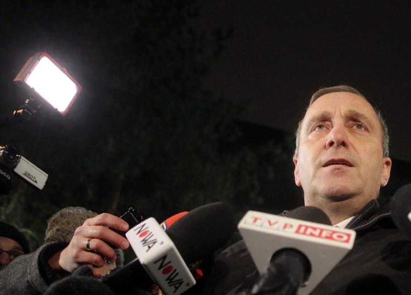 Grzegorz Schetyna po spotkaniu z prezydentem Andrzejem Dudą / Przemek Wierzchowski /
