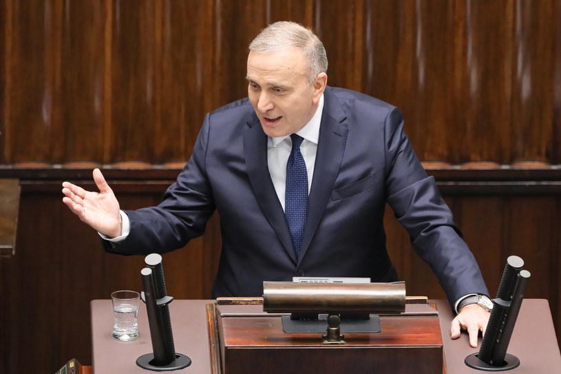 Grzegorz Schetyna podczas przemówienia /Paweł Supernak /PAP